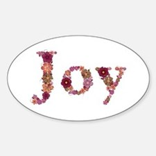 Joy Pink Flowers Oval Decal