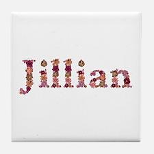 Jillian Pink Flowers Tile Coaster