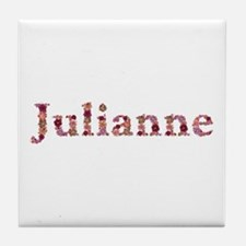 Julianne Pink Flowers Tile Coaster