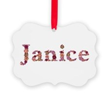 Janice Pink Flowers Picture Ornament