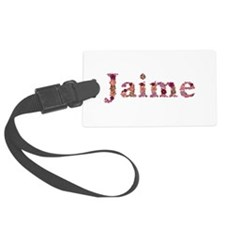 Jaime Pink Flowers Luggage Tag