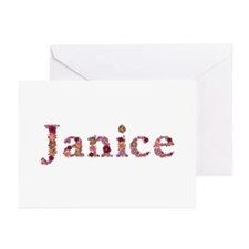 Janice Pink Flowers Greeting Card 20 Pack