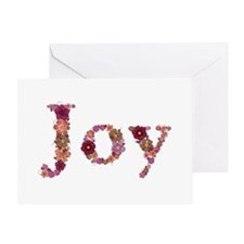 Joy Pink Flowers Greeting Card