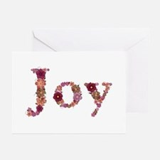 Joy Pink Flowers Greeting Card 10 Pack