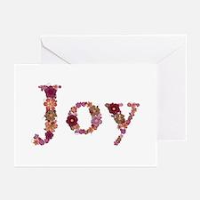 Joy Pink Flowers Greeting Card 20 Pack