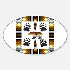 BEAR PRIDE SYMBOLS Oval Decal