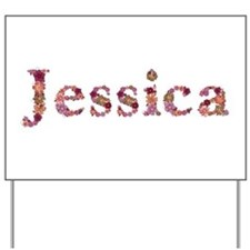Jessica Pink Flowers Yard Sign