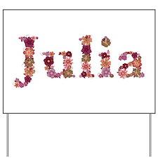Julia Pink Flowers Yard Sign