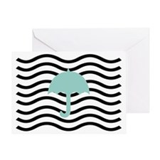 Abstract Art Cute Umbrella Greeting Card