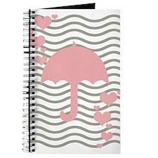 Cute Pink Hearts Abstract Art Journal