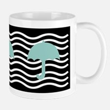 Dreamy Aqua Umbrellas Mugs