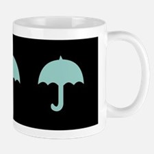 Aqua Umbrellas Black Mugs