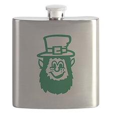 Green irish leprechaun Flask