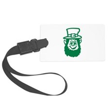 Green irish leprechaun Luggage Tag