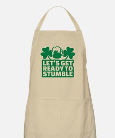Let's get ready to stumble beer shamrocks Apron
