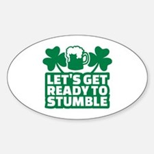 Let's get ready to stumble beer sha Decal