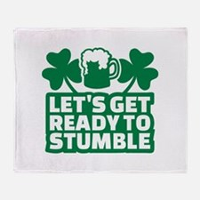 Let's get ready to stumble beer sham Throw Blanket