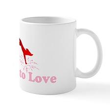 Jump into love red Mug