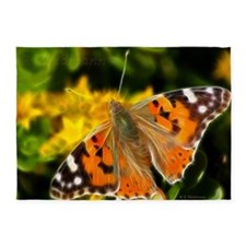 Painted Lady Butterfly 5'X7'area 5' 5'X7'area Rug