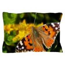 Painted lady Butterfly Pillow Case