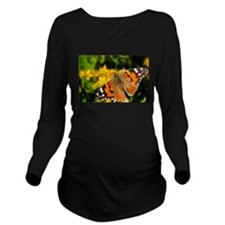 Painted Lady Butterf Long Sleeve Maternity T-Shirt