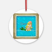 Mermaid in Training Ornament (Round)