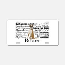 Boxer Traits Aluminum License Plate