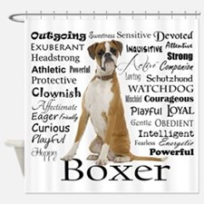 Boxer Traits Shower Curtain