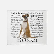 Boxer Traits Throw Blanket