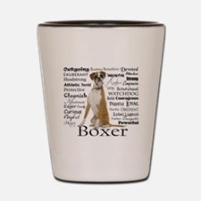 Boxer Traits Shot Glass