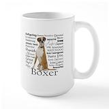 Boxer dog Large Mugs (15 oz)
