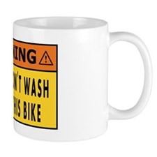 do not wash this bike Mug