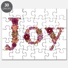 Joy Pink Flowers Puzzle