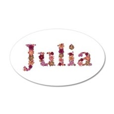 Julia Pink Flowers Wall Decal