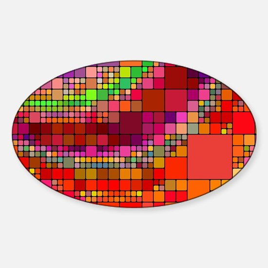Abstract Art Sticker (Oval)