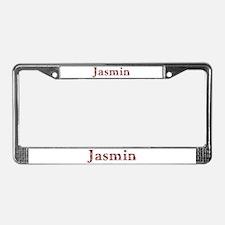 Jasmin Pink Flowers License Plate Frame
