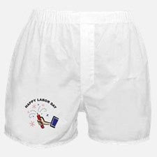 Happy Labor Day Boxer Shorts