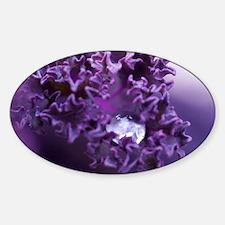 Purple Liquid Art Sticker (Oval)