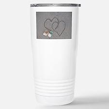 hearts and shells on sa Travel Mug