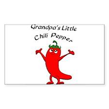 Grandpa's Little Chili Pepper Sticker (Rectangular