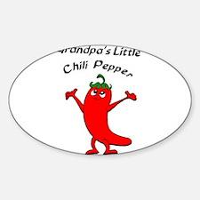Grandpa's Little Chili Pepper Oval Decal