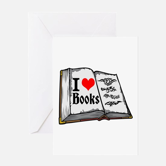 I heart books Greeting Cards