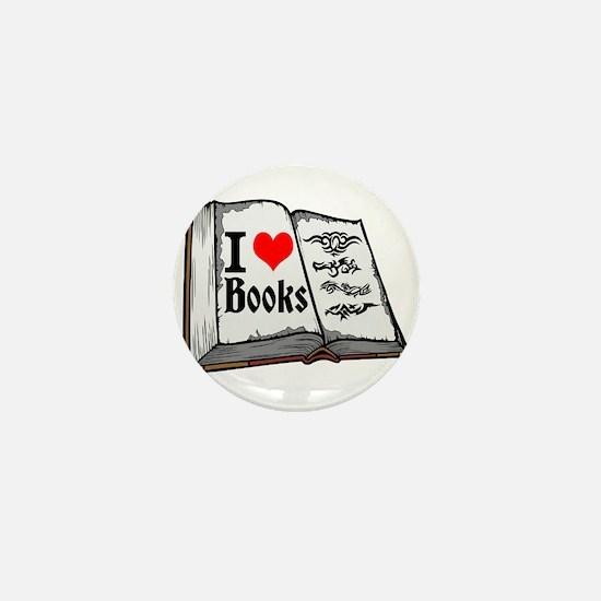 I heart books Mini Button