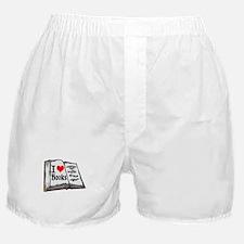 I heart books Boxer Shorts