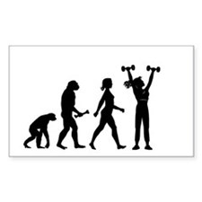 Female Weightlifter Evolution Decal