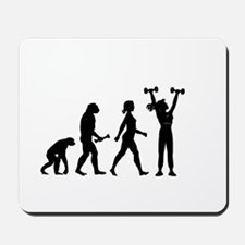 Female Weightlifter Evolution Mousepad