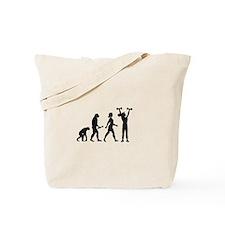Female Weightlifter Evolution Tote Bag