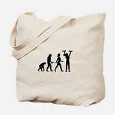 Female Weightlifter Evolution Tote Bag