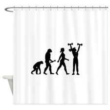 Female Weightlifter Evolution Shower Curtain