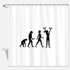 Female Weightlifter Evolution Shower Curtain